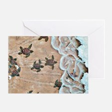 Race To The Sea horizontal Greeting Card