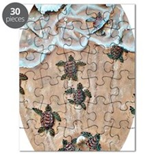 Race To The Sea oval copy Puzzle