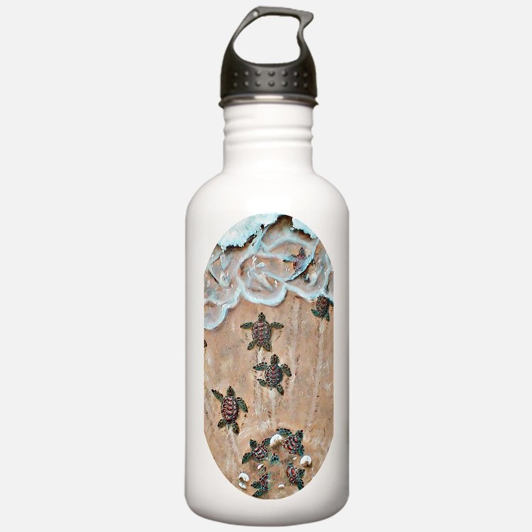 2-Race To The Sea oval Water Bottle