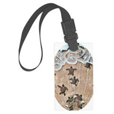 2-Race To The Sea oval copy Luggage Tag