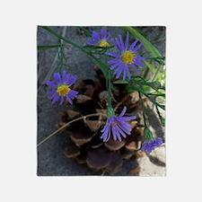 wildflowers  pine cone Throw Blanket