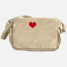 I-Love-My-Schnoodle-dark Messenger Bag