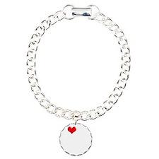 I-Love-My-Schnoodle-dark Charm Bracelet, One Charm
