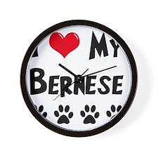 I-Love-My-Bernese Wall Clock