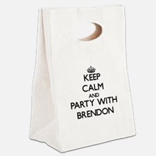 Keep Calm and Party with Brendon Canvas Lunch Tote