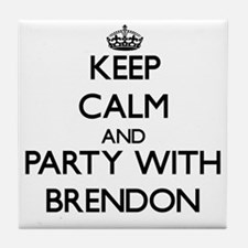 Keep Calm and Party with Brendon Tile Coaster