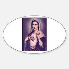 Virgin Mary - Sacred Heart Oval Decal