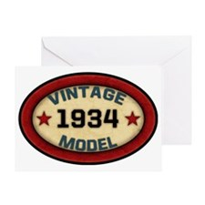 vintage-model-1934 Greeting Card
