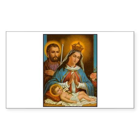 Holy Family - Nativity Rectangle Sticker