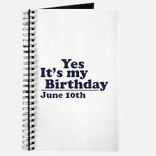 June 10 Birthday Journal