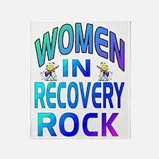 WOMEN ROCK.gif Throw Blanket