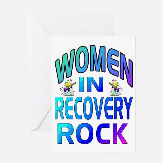 WOMEN ROCK.gif Greeting Card