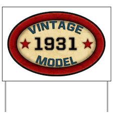 vintage-model-1931 Yard Sign