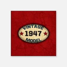 "vintage-model-1947_b Square Sticker 3"" x 3"""