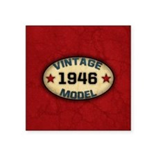 "vintage-model-1946_b Square Sticker 3"" x 3"""