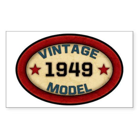 vintage-model-1949 Sticker (Rectangle)