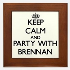 Keep Calm and Party with Brennan Framed Tile
