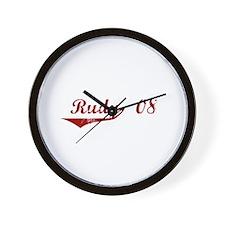 Rudy '08 Wall Clock