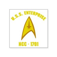 "ncc17012 Square Sticker 3"" x 3"""