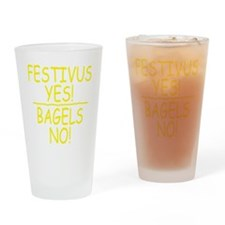 festivus_yes_bagels_for dark Drinking Glass