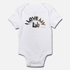 I Love My Lab Infant Bodysuit
