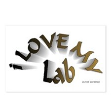 I Love My Lab Postcards (Package of 8)