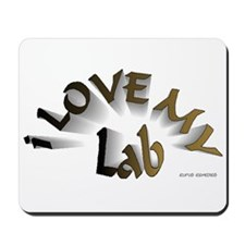 I Love My Lab Mousepad