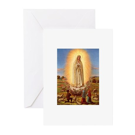 Virgin Mary - Fatima Greeting Cards (Pk of 10)
