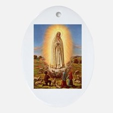 Virgin Mary - Fatima Oval Ornament