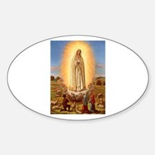 Virgin Mary - Fatima Oval Bumper Stickers