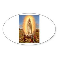 Virgin Mary - Fatima Oval Decal