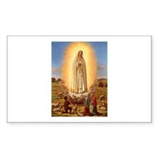 Virgin Mary - Fatima Rectangle Decal