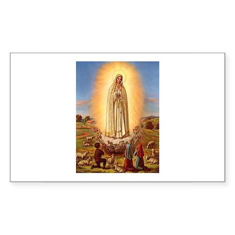 Virgin Mary - Fatima Rectangle Sticker