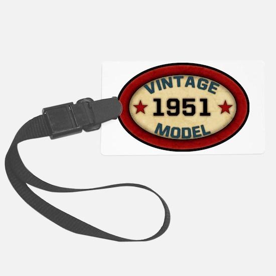 vintage-model-1951 Large Luggage Tag