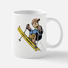 Young Boy Skiing Mug