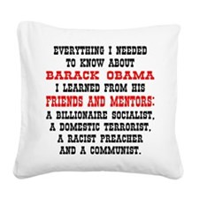 wht_Know_About_Obama_3 Square Canvas Pillow