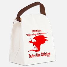 DragonTastesLikeChicken Canvas Lunch Bag
