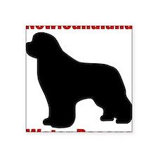 """NewfWaterRescue Square Sticker 3"""" x 3"""""""