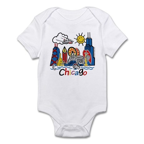 Chicago Cute Kids Skyline Infant Bodysuit