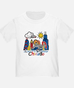 Chicago Cute Kids Skyline T