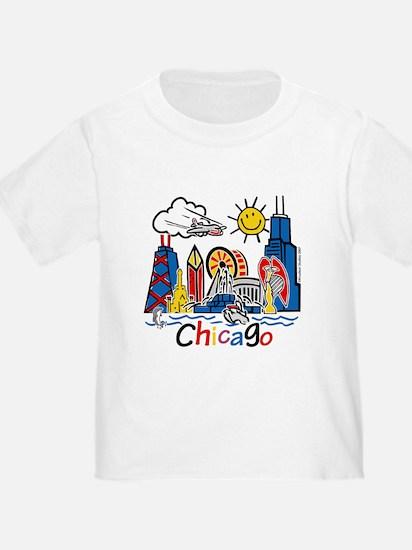 Chicago Cute Kids Skyline T