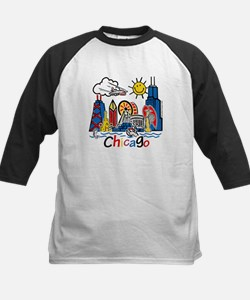 Chicago Cute Kids Skyline Kids Baseball Jersey