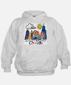 Chicago Cute Kids Skyline Hoodie