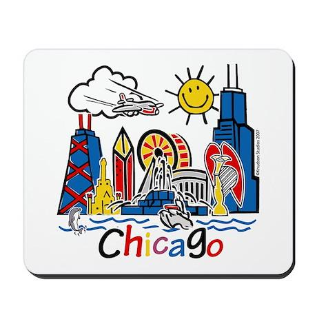 Chicago Cute Kids Skyline Mousepad