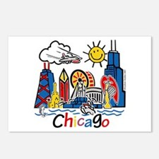 Chicago Cute Kids Skyline Postcards (Package of 8)
