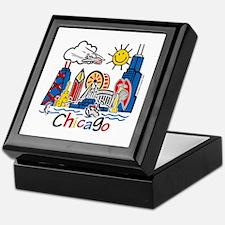 Chicago Cute Kids Skyline Keepsake Box