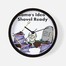 shovel-ready Wall Clock