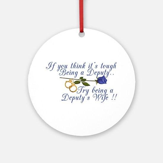 Tough Deputy Ornament (Round)