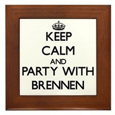Keep Calm and Party with Brennen Framed Tile