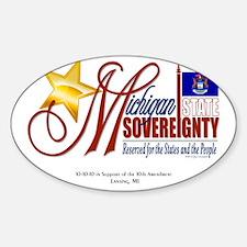 Michigan Sovereignty2 Sticker (Oval)